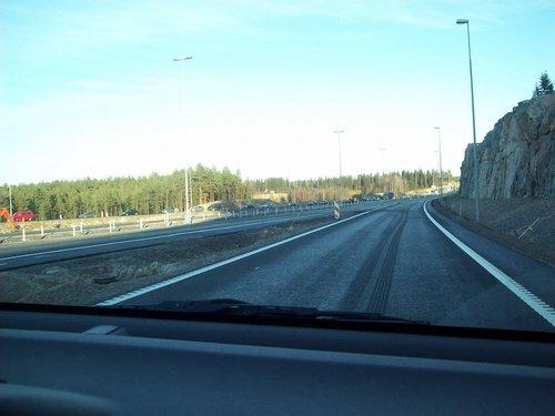 Ремонт дороги в Финке.