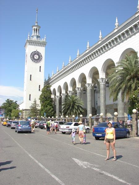 Сочинский вокзал.