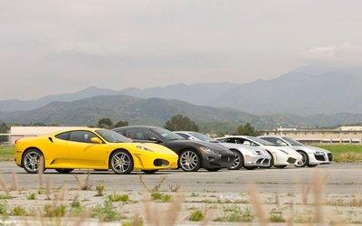 Недетские игры: Maserati GranTurismo, Audi R8, Ferrari F430, Lamborghini LP560-4, Mercedes McLaren SLR
