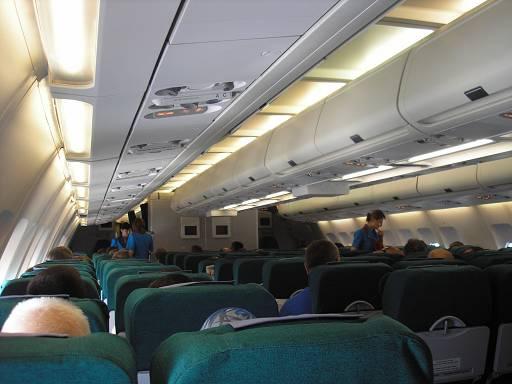 Внутри самолёта А330.