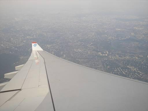 Москва с высоты 4 километра.