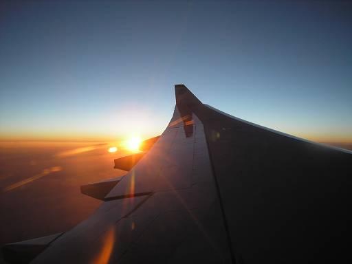 Закат над Тюменью.