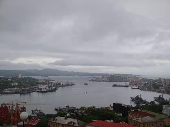 Вид на город с верхней станции фуникулёра.
