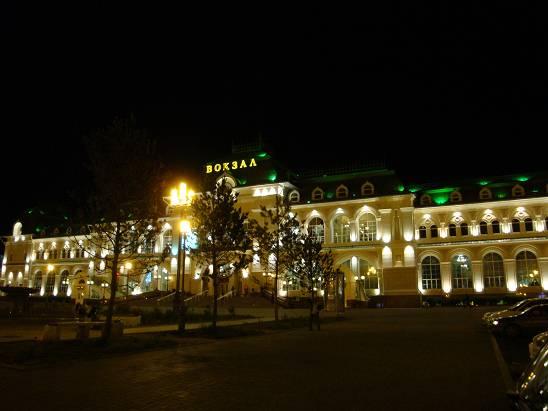 Железнодорожный вокзал Хабаровска.