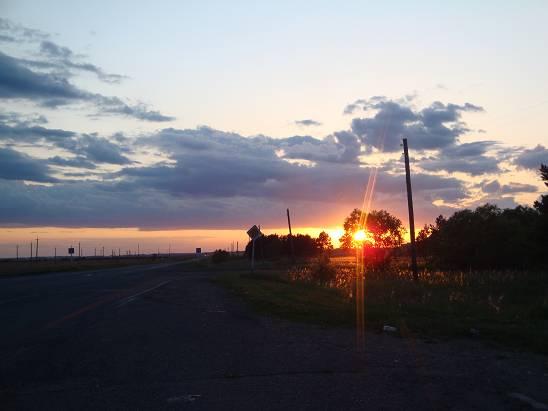 Закат перед Благовещенском.