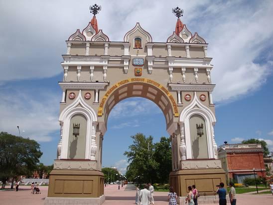 Николаевская арка в Благовещенске.