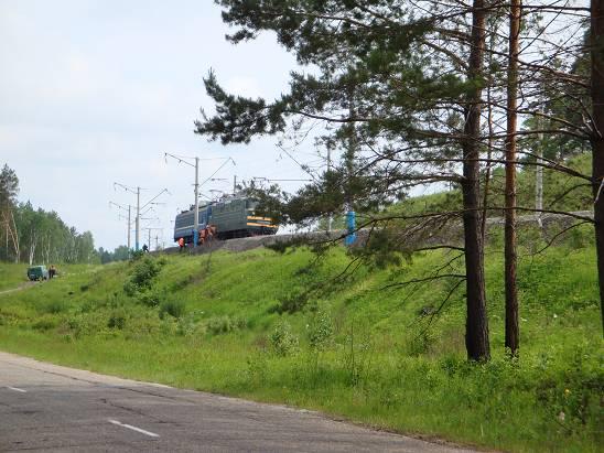 Транссибирская магистраль перед выездом на трассу «Амур».