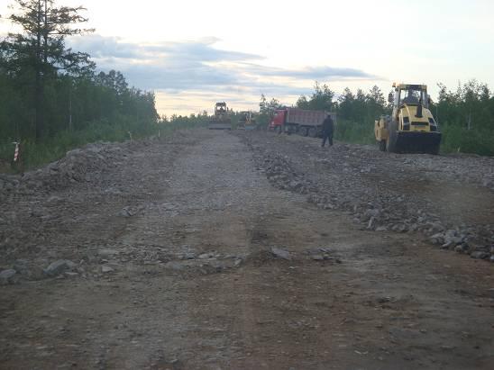 Строящийся участок трассы.