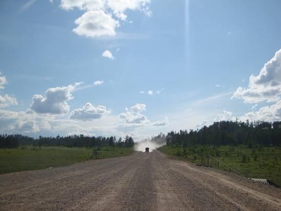 150-километровый участок пыльной дороги после Могочи.