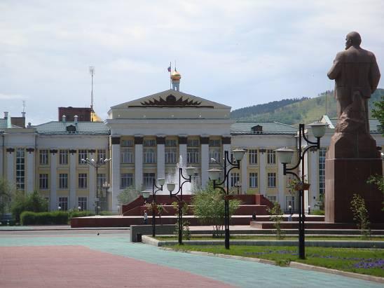 Площадь Ленина в Чите.