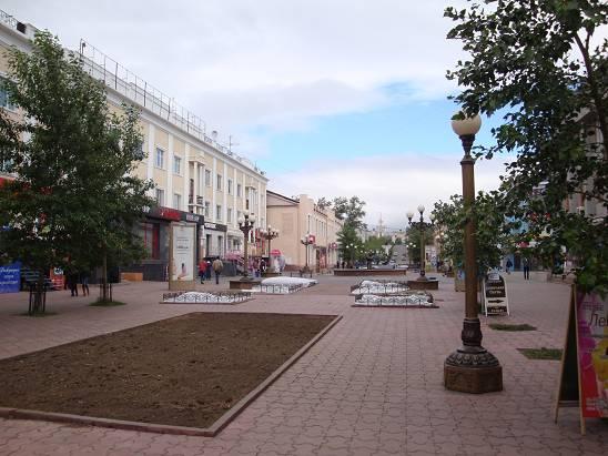 Пешеходная улица в Улан-Удэ.