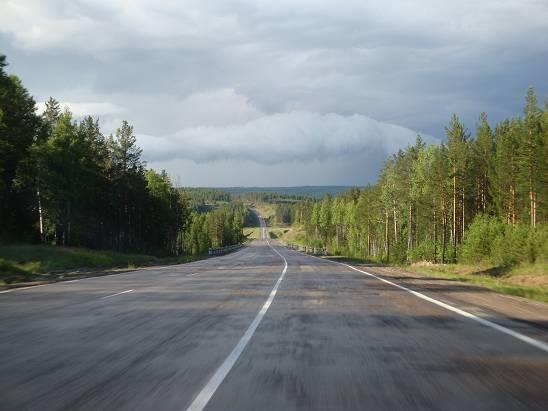 Трасса после Нижнеудинска.