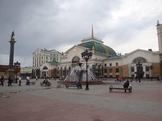 Железнодорожный вокзал Красноярска.