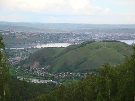 Вид на город с Красноярских столбов.