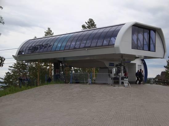 Верхняя станция канатной дороги.