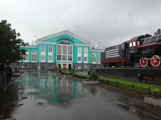 Вокзал в Кемерово.