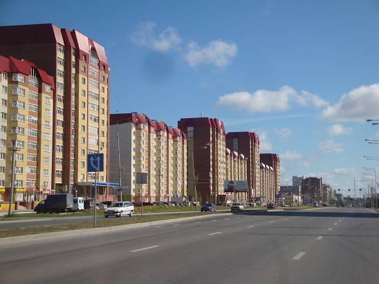 Новый район на въезде в город.
