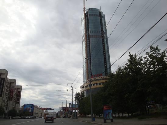 Небоскрёб в центре Екатеринбурга.