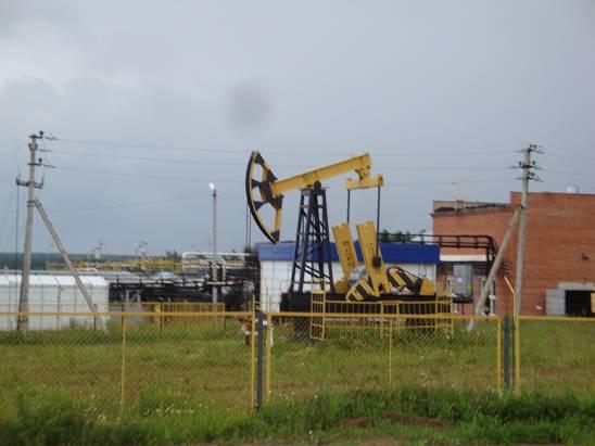 Нефтяной насос в Удмуртии.