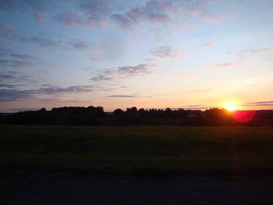 Закат в Тамбовской области.