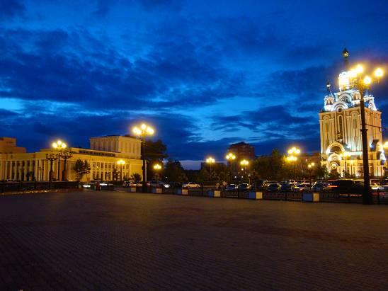 Ночной Хабаровск.