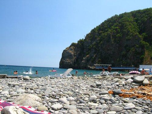 Вот такой вид на пляже.