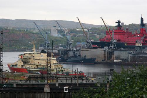 Вид на порт.