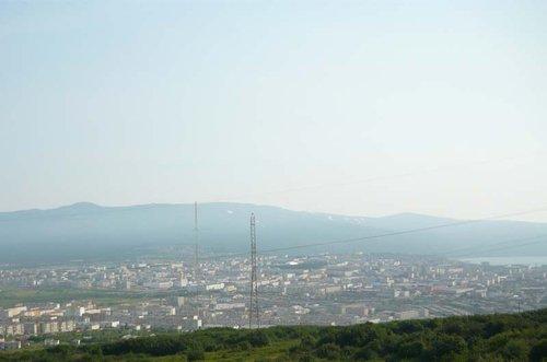 Панорама Магадана.
