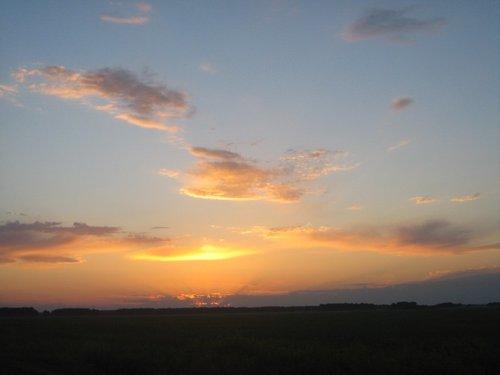 Это закат в Тюменской области.