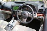 Кремовые кожаные сиденья — одна из опций SubaruLegacy TouringWagon2.5GTSICruise.