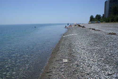 Пицунда. Море. Пляж.