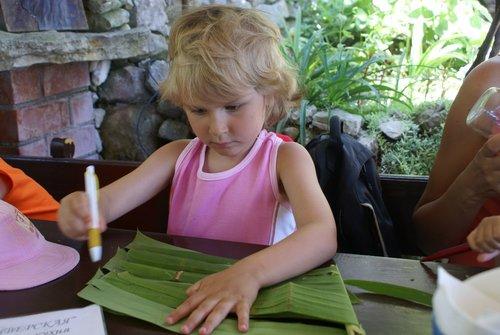 Во времена блокады бумаги не было, научились писать на пальмовых листьях :).
