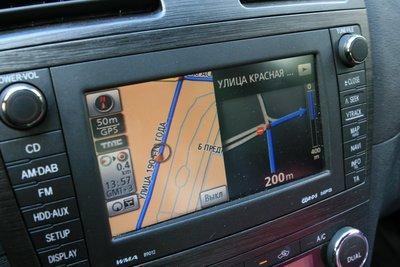 тач-скрин с встроенной навигацией