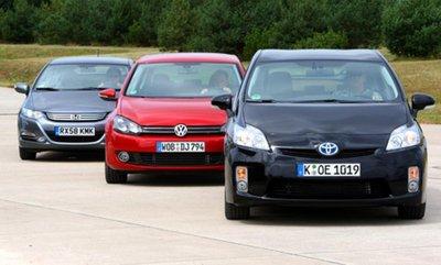 Сравнительный тест Honda Insight, Toyota Prius и VW Golf