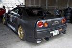 Piers Dowding черный карбоновый Nissan Skyline GT-R R34