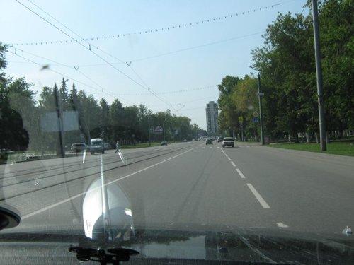 На улицах Челябинска.