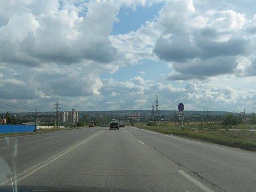 На подъезде к Саратову.