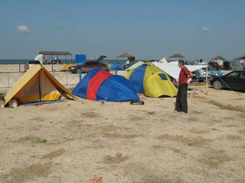 Наша палатка.