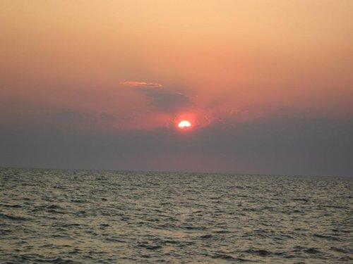 Красивый закат…