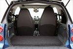 При опущенной крышке багажника в Smart можно просто заталкивать вещи.
