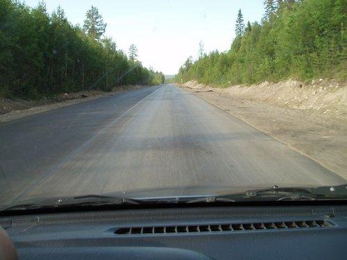 Федеральная трасса в Мурманской области.