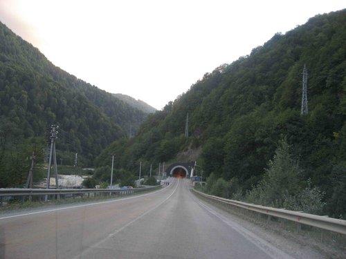 Красная поляна, тоннель.