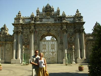 Ворота во дворец Долмабахче, Стамбул.