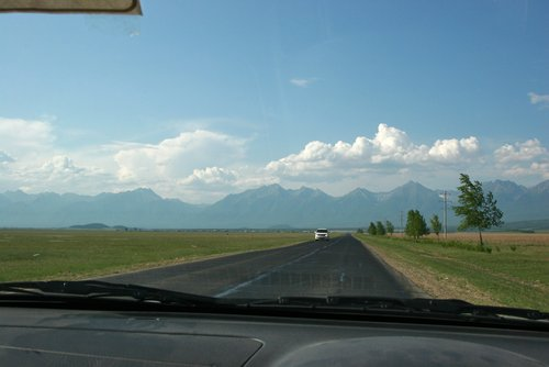 По дороге в Аршан.