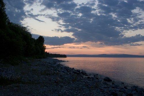 Закат на Байкале.