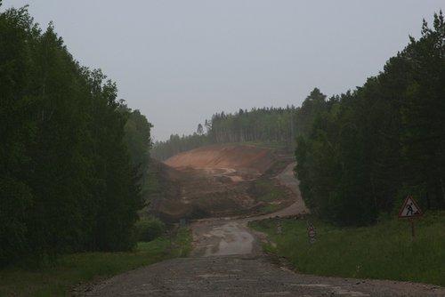 Капитальный ремонт дороги на Красноярск.