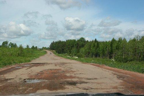 Дороги до Красноярска.