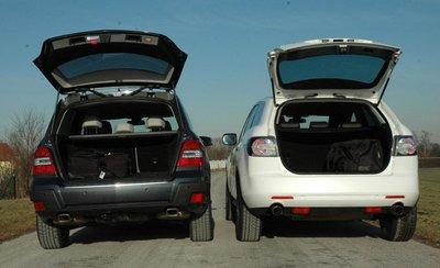 Mazda CX-7 и Mercedes GLK