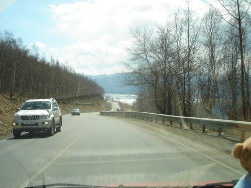 Дорога вдоль Байкала.