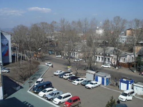 Улан-Удэ из окна гостиницы.